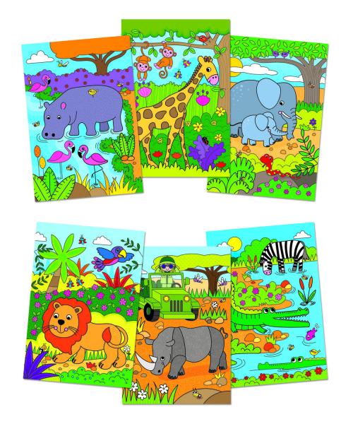 Water Magic: Carte de colorat Safari 1