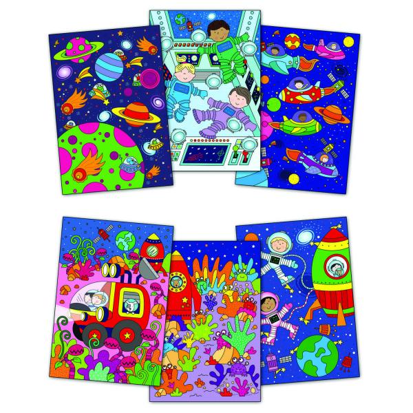 Water magic: Carte de colorat Spatiu 1