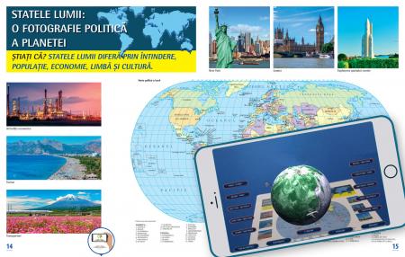 Atlas geografic scolar. Cunoasterea Terrei prin realitatea augmentata2