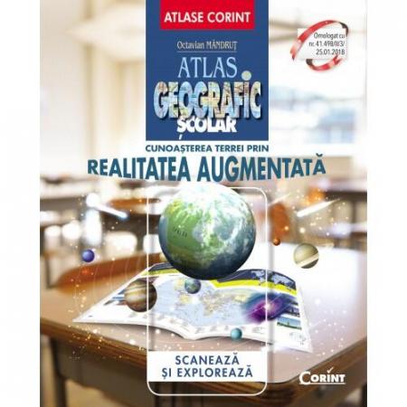 Atlas geografic scolar. Cunoasterea Terrei prin realitatea augmentata0