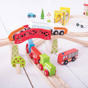 Circuit auto si  feroviar  (125 piese)2