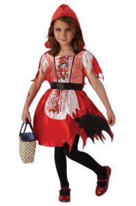 Costum de carnaval - Scufita Rosie infricosatoare0