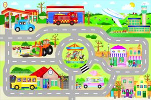 Giant Floor Puzzle: Orasul (30 piese)1