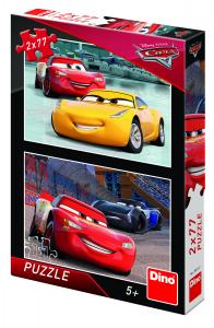 Puzzle 2 in 1 - Cars 3: Cursa cea mare (77 piese)0