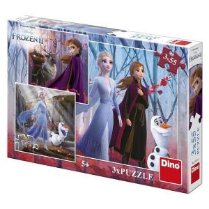 Puzzle 3 in 1 - Frozen II (3 x 55)0