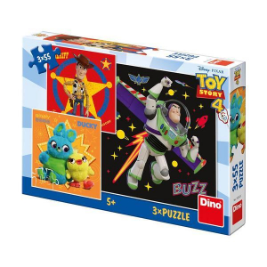 Puzzle 3 in 1 - TOY STORY 4 (55 piese)0
