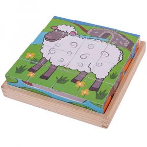 Puzzle cubic - Animalute de la ferma2