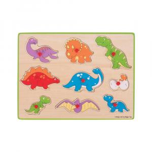 Puzzle din lemn incastru - Dinozauri0
