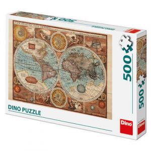 Puzzle - Harta lumii din 1626 (500 piese)1