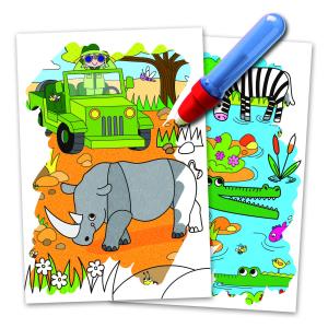 Water Magic: Carte de colorat Safari2