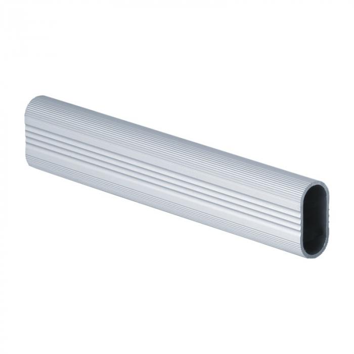 Bara umerase ovala striata aluminiu, lungime 1 m 0