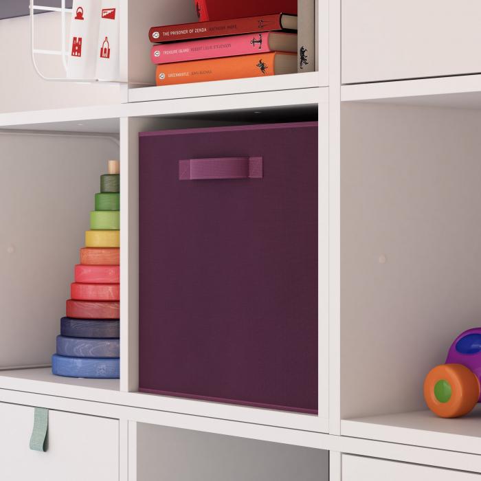 Organizator pentru dulap sau sertar 31x31x31 cm, violet 1