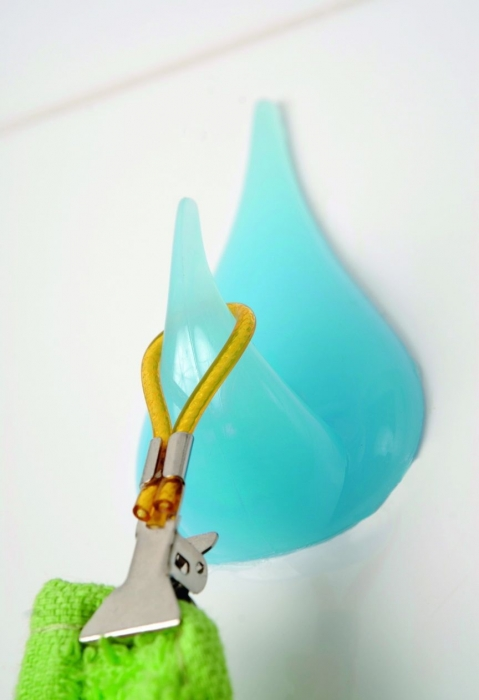 Agatatoare cuier autoadeziva albastra 0