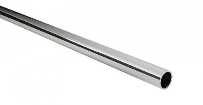 Bara pentru umerase rotunda D: 25 mm, crom lucios, lungime 90 cm [0]