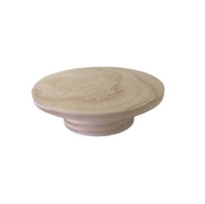 Buton din lemn pentru mobilier Echo, finisaj natur periat 0