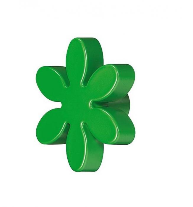 Buton floare verde pentru mobilier copii 0