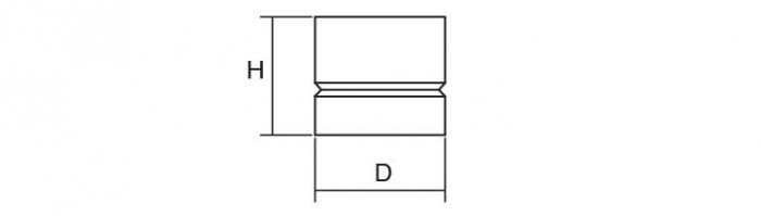 Buton pentru mobila Acer, finisaj otel inoxidabil periat, D:23 mm [3]