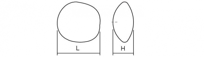Buton pentru mobila Opale, finisaj alb mat, L:38 mm [2]