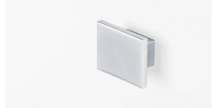 Buton pentru mobila Square, finisaj crom mat [2]