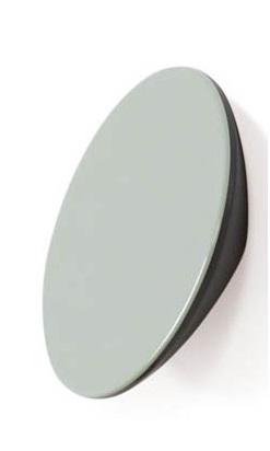 Buton pentru mobila Topo, finisaj gri/verde, D:80 mm [0]