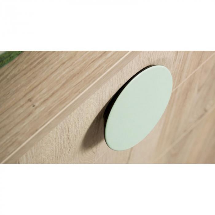 Buton pentru mobila Topo, finisaj gri/verde, D:80 mm [1]
