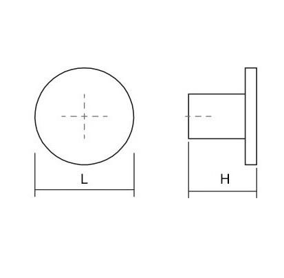 Buton pentru mobilier Como Big, cupru periat, D 41 mm [1]