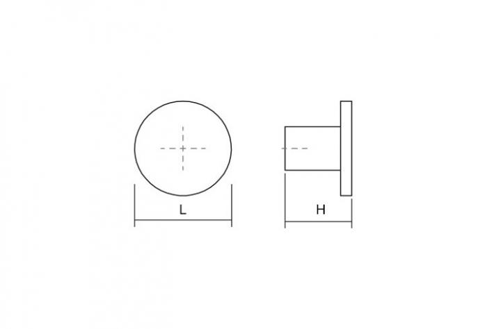 Buton pentru mobilier Como Big, negru mat, D: 41 mm [2]