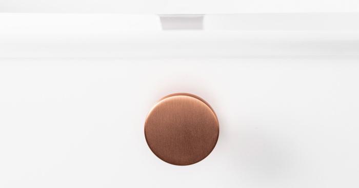 Buton pentru mobilier Como, cupru periat, D: 26 mm 2