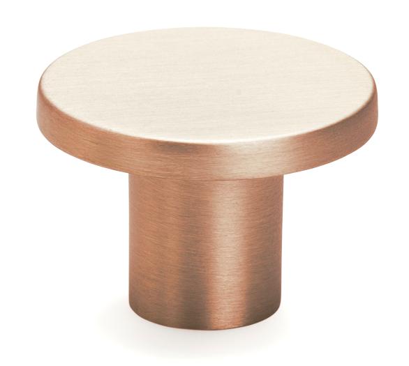 Buton pentru mobilier Como, cupru periat, D: 26 mm 0