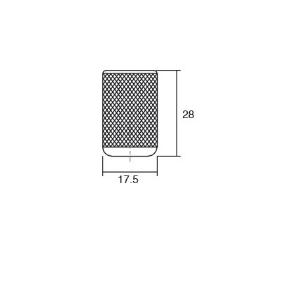 Buton pentru mobilier Graf alama intunecata periata [1]