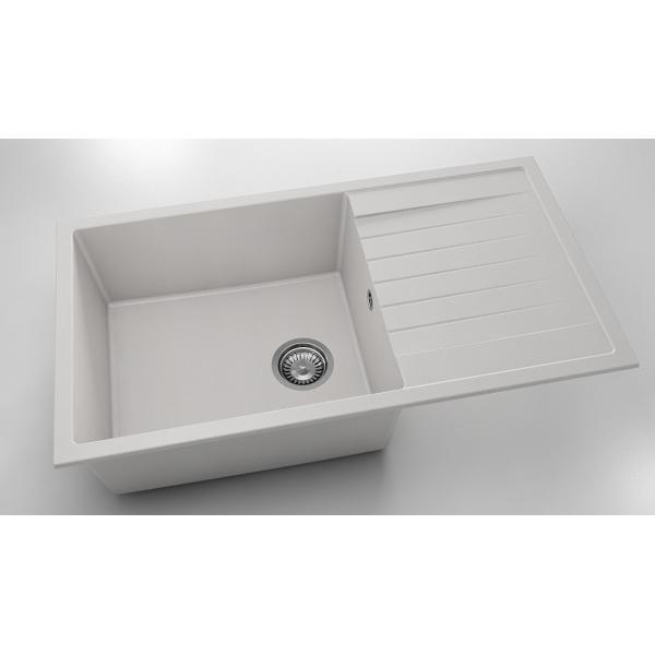 Chiuveta cu blat dreapta/stanga alba 90 cm/49 cm (229) [0]