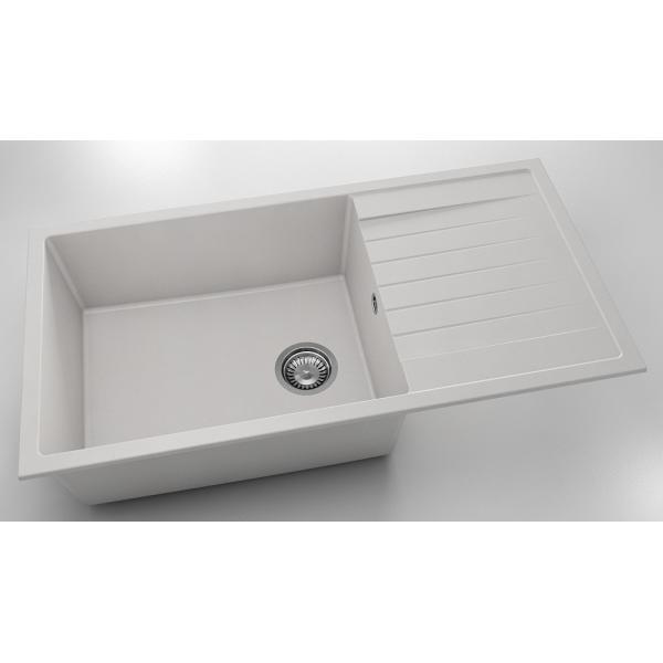 Chiuveta cu blat dreapta/stanga alba 95 cm/49 cm (230) 0