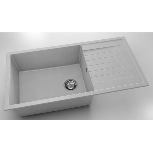 Chiuveta cu blat dreapta/stanga gri deschis 95 cm/49 cm (230) [0]
