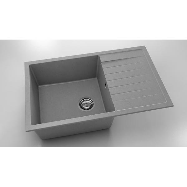 Chiuveta cu blat dreapta/stanga gri metalic 80 cm/49 cm (228) [0]