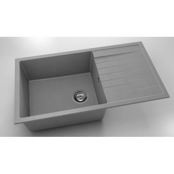 Chiuveta cu blat dreapta/stanga gri metalic 90 cm/49 cm (229) 0