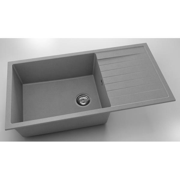 Chiuveta cu blat dreapta/stanga gri metalic 95 cm/49 cm (230) 0