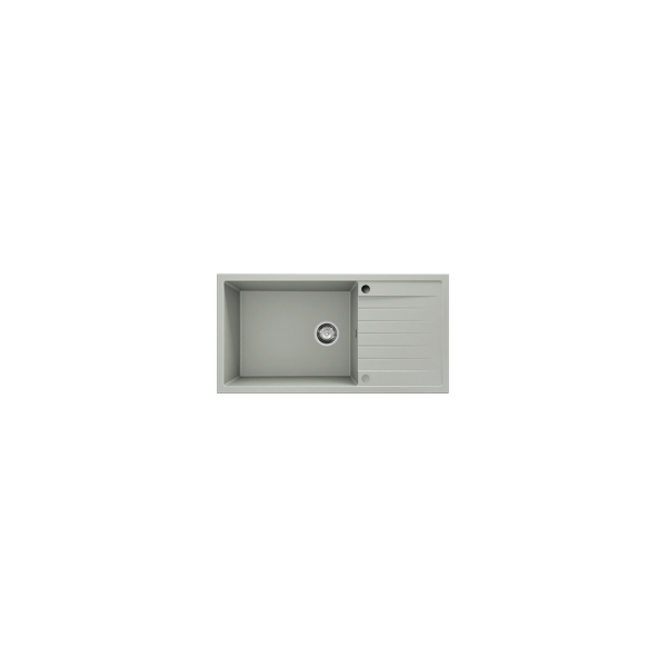 Chiuveta cu blat dreapta/stanga gri metalic 95 cm/49 cm (230) 1