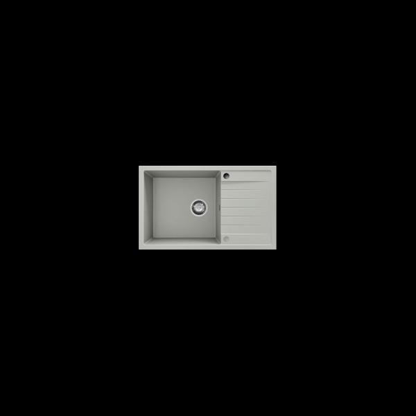 Chiuveta cu blat dreapta/stanga negru metalic 80 cm/49 cm (228) 1