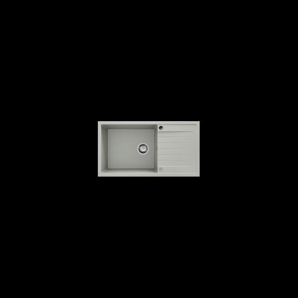 Chiuveta cu blat dreapta/stanga negru metalic 90 cm/49 cm (229) [1]
