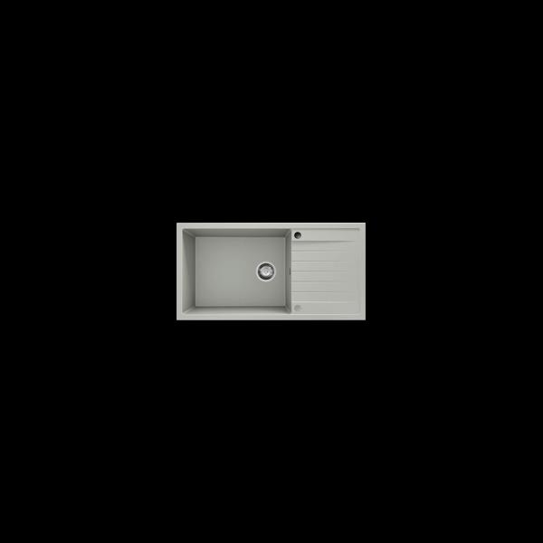 Chiuveta cu blat dreapta/stanga negru metalic 95 cm/49 cm (230) 1