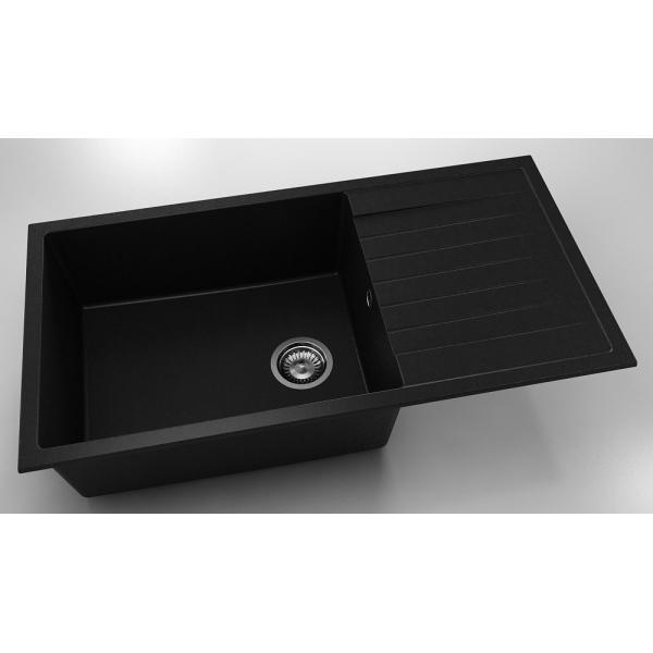 Chiuveta cu blat dreapta/stanga negru metalic 95 cm/49 cm (230) 0