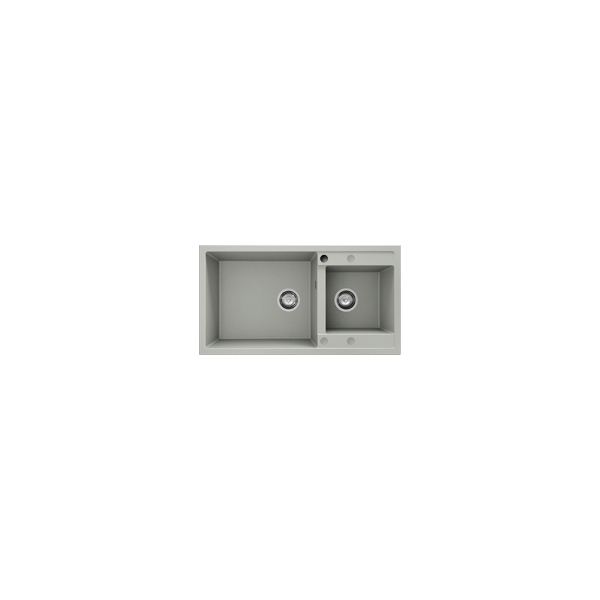 Chiuveta cu doua cuve negru metalic 90 cm/49 cm (234) 1