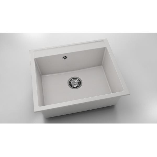 Chiuveta cu o cuva alba 60 cm/51 cm (227) [0]