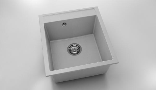 Chiuveta cu o cuva gri deschis 46 cm/51 cm (224) 0