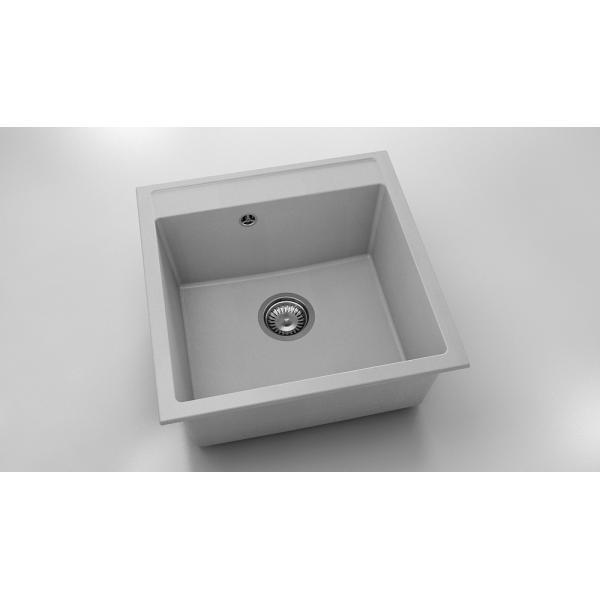 Chiuveta cu o cuva gri deschis 51 cm/51 cm (225) 0