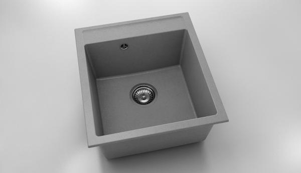 Chiuveta cu o cuva gri metalic 46 cm/51 cm (224) 0
