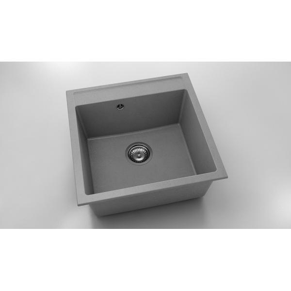 Chiuveta cu o cuva gri metalic 51 cm/51 cm (225) 0