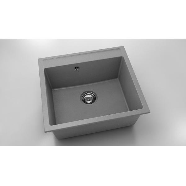 Chiuveta cu o cuva gri metalic 56 cm/51 cm (226) 0