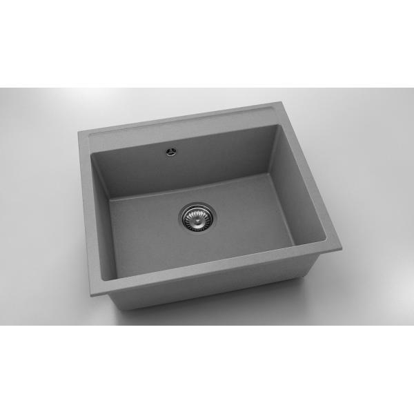 Chiuveta cu o cuva gri metalic 60 cm/51 cm (227) 0