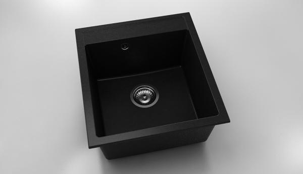 Chiuveta cu o cuva negru metalic 46 cm/51 cm (224) 0